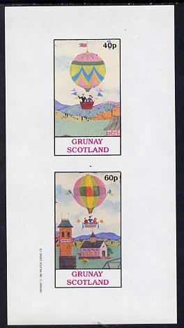 Grunay 1982 Balloons imperf set of 2 values (40p & 60p) unmounted mint