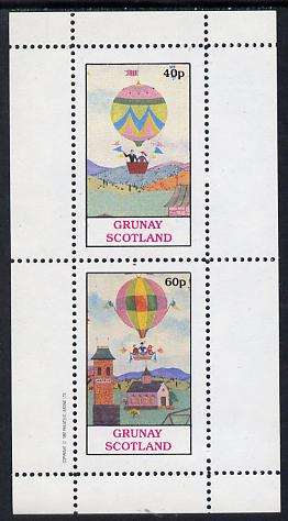 Grunay 1982 Balloons perf set of 2 values (40p & 60p) unmounted mint