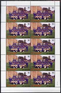 St Vincent 1987 English Football teams $2 Everton complete perf sheet of 10 unmounted mint SG 1090