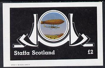 Staffa 1982 Airships #2 imperf deluxe sheet (�2 value) unmounted mint