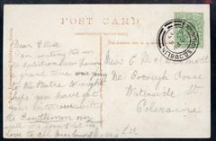 Ireland 1907 PPC (Irish International Exhibition) locally used bearing Great Britain 1/2d with exhibition cancel, very fine