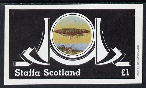 Staffa 1982 Airships #2 imperf souvenir sheet (�1 value) unmounted mint