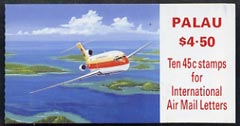 Booklet - Palau 1989 $4.50 Aircraft booklet complete