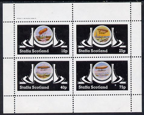 Staffa 1982 Airships #2 perf set of 4 values (10p to 75p) unmounted mint