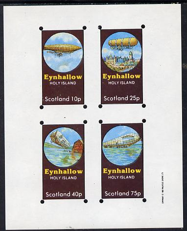 Eynhallow 1982 Airships imperf set of 4 values (10p to 75p) unmounted mint