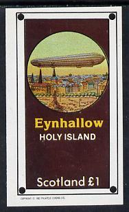 Eynhallow 1982 Airships imperf souvenir sheet (�1 value) unmounted mint