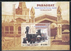 Paraguay 2004 150th Anniversary of Railways imperf m/sheet (only 3,000 issued)