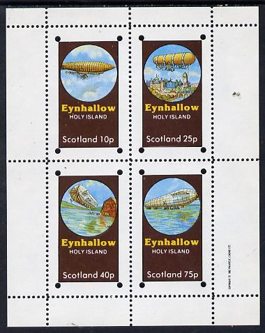 Eynhallow 1982 Airships perf set of 4 values (10p to 75p) unmounted mint