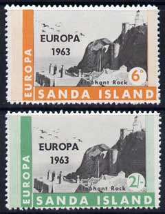 Sanda Island 1963 Europa perf set of 2 showing Lighthouses unmounted mint