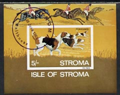 Stroma 1969 Dogs imperf m/sheet (5s value showing Foxhounds) cto used