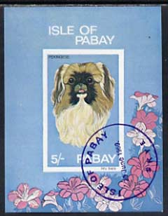 Pabay 1969 Dogs imperf m/sheet (5s value showing Pekingese) cto used