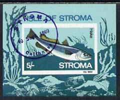 Stroma 1969 Fish 5s (Hake) imperf m/sheet cto used