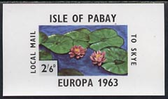 Pabay 1963 Europa Flowers imperf m/sheet (water lily) unmounted mint (Rosen PA10)