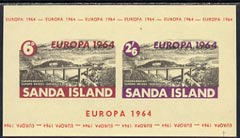 Sanda Island 1964 Europa imperf m/sheet (Europa Bridge) on buff paper unmounted mint