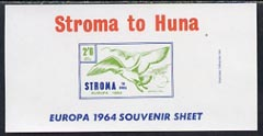Stroma 1964 Europa imperf m/sheet 2s6d (Herring Gull) unmounted mint