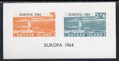 Davaar Island 1964 Europa imperf m/sheet (Lighthouses) unmounted mint