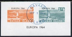 Davaar Island 1964 Europa imperf m/sheet (Lighthouses) cto used