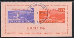 Davaar Island 1964 Europa imperf m/sheet (Lighthouses) on pink paper cto used