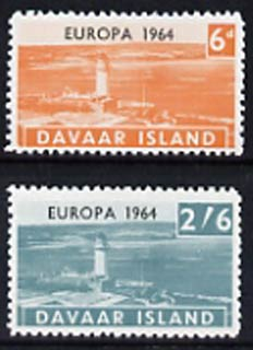 Davaar Island 1964 Europa perf set of 2 (Lighthouses) unmounted mint