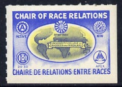 Cinderella - Rhodesia & Nyasaland label inscribed 'Chair of Race Relations' unmounted mint
