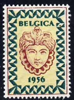 Cinderella - Belgium 1956 perf label inscribed Belgica 1956