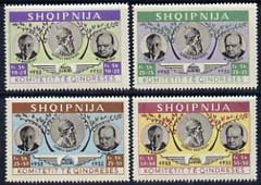 Albania 1952 Churchill & Roosevelt set of 4 values (alternative colours to 1949 set with 1952 opt) unmounted mint