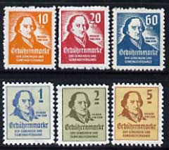 Cinderella - Germany set of 6 perf labels commemorating Freiherr Vom Stein (statesman) unmounted mint