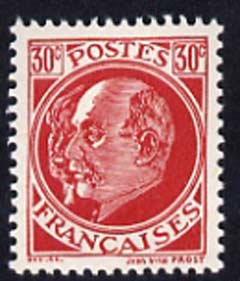Cinderella - France perf propaganda stamp based on the 1941 30c Marshall Petain stamp with an additional ghost portrait, unmounted mint