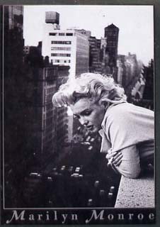 Postcard - Publicity postcard showing Marilyn Monroe in black & white (BP Posters), unused and pristine