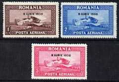 Rumania 1930 Air set of 3 opt