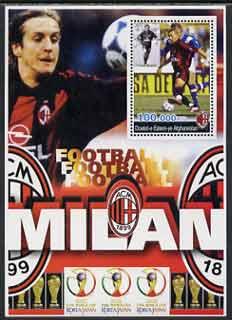 Afghanistan 2001 Football #2 (AC Milan - Shevchenko) perf souvenir sheet unmounted mint