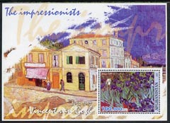 Afghanistan 2001 The Impressionists - Vincent Van Gogh #1 perf souvenir sheet unmounted mint