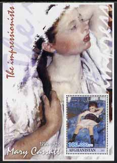 Afghanistan 2001 The Impressionists - Mary Cassatt #1 perf souvenir sheet unmounted mint
