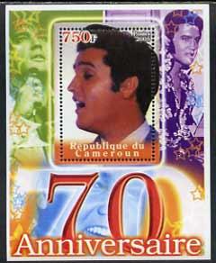Cameroun 2005 70th Anniversary of Elvis Presley #2 perf souvenir sheet unmounted mint