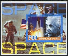 Mali 2005 Albert Einstein & Space #1 perf souvenir sheet unmounted mint