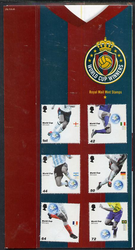 Great Britain 2006 Football World Cup Winners perf set of 6 in official presentation pack unmounted mint SG 2628-33