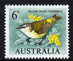 Australia 1964-65 Thornbill 6d from Birds def set, unmounted mint, SG 363