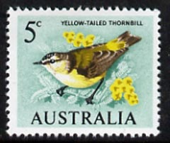 Australia 1966-73 Thornbill 5c from decimal def set unmounted mint, SG 386