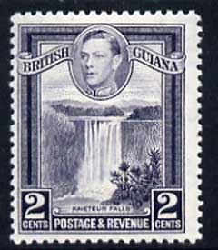British Guiana 1938-52 KG6 Kaieteur Falls 2c P12.5 unmounted mint SG 309