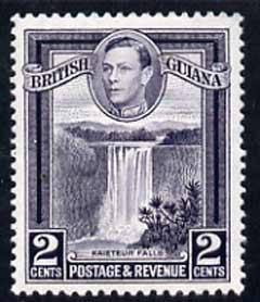 British Guiana 1938-52 KG6 Kaieteur Falls 2c P13 x 14 unmounted mint SG 309a
