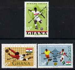 Ghana 1966 Black Stars Football Victory perf set of 3 unmounted mint SG 412-14