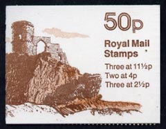 Booklet - Great Britain 1981-82 Follies #2 (Mow Cop Castle) 50p booklet complete, SG FB18