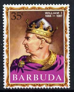 Barbuda 1970-71 English Monarchs SG 42 William I unmounted mint*