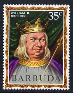 Barbuda 1970-71 English Monarchs SG 43 William II unmounted mint*