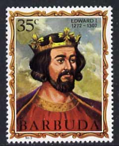 Barbuda 1970-71 English Monarchs SG 50 Edward I unmounted mint*