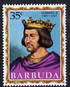 Barbuda 1970-71 English Monarchs SG 51 Edward II unmounted mint*, stamps on royalty
