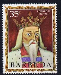Barbuda 1970-71 English Monarchs SG 52 Edward III unmounted mint*