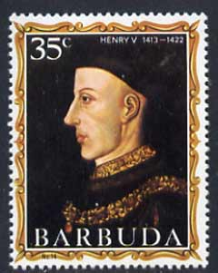 Barbuda 1970-71 English Monarchs SG 55 Henry V unmounted mint*