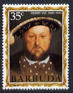 Barbuda 1970-71 English Monarchs SG 61 Henry VIII unmounted mint*