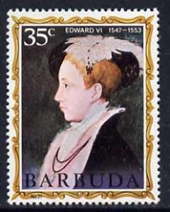 Barbuda 1970-71 English Monarchs SG 62 Edward VI unmounted mint*